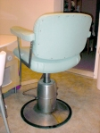 Vintage stainless steel barber chair